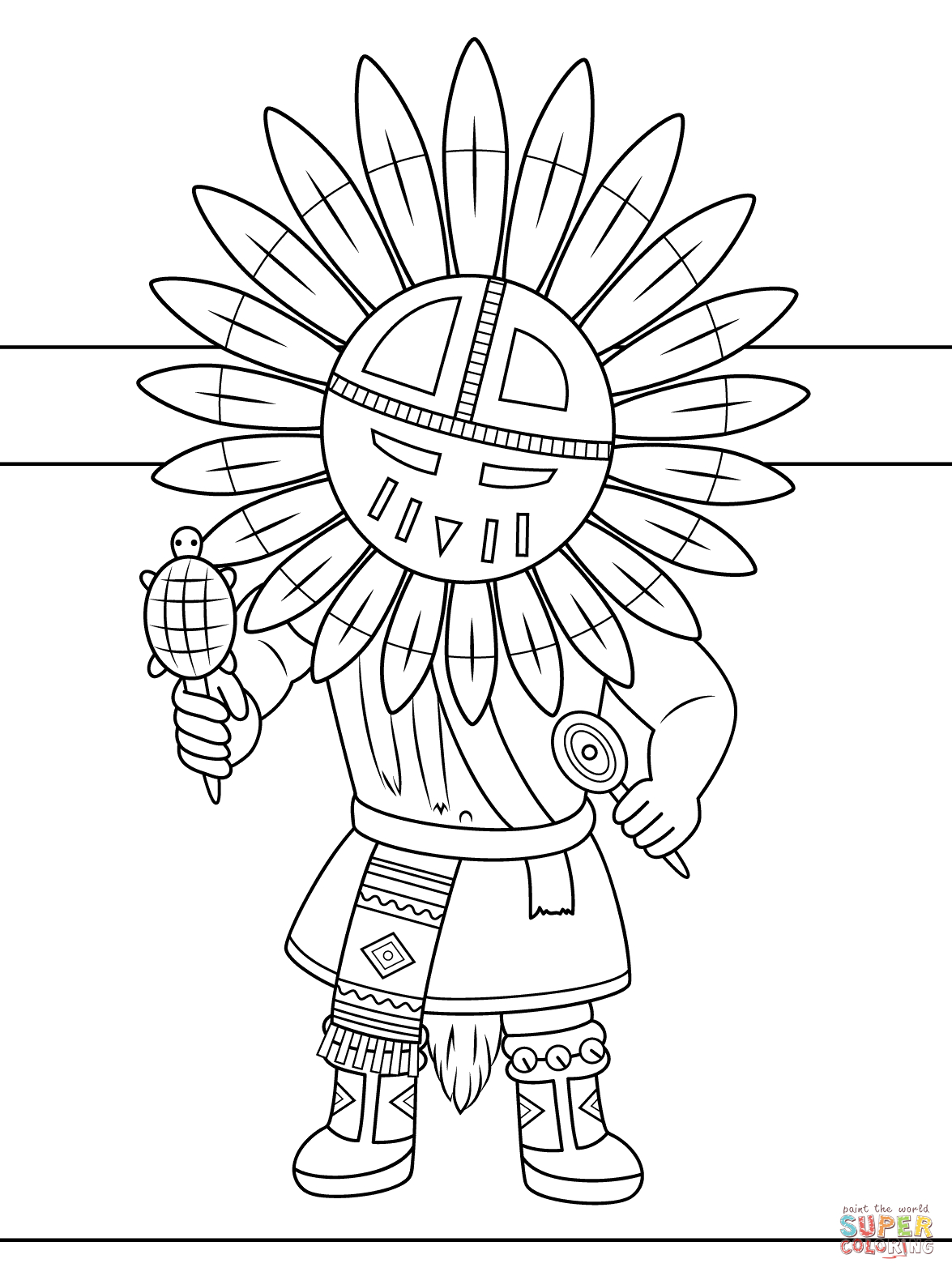 Indian Coloring Pages Printables  Download 20n - Save it to your computer
