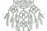 Indian Feathers Coloring Pages - Dream Catcher Coloring Page рисунки дРя вышивки