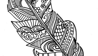 Indian Feathers Coloring Pages - Feather Coloring Page to Go Along with Lessons On Gossip and Rumors