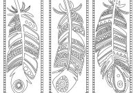 Indian Feathers Coloring Pages - Feathers Coloring Page Bookmarks This is A Printable Pdf Coloring