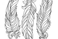 Indian Feathers Coloring Pages - Lostbumblebee ©2015 Mdbn Grown Up Colouring Coloring Sheets