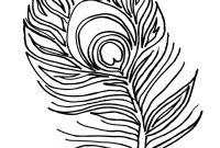 Indian Feathers Coloring Pages - Peacock Feather Coloring Page Printables Pinterest