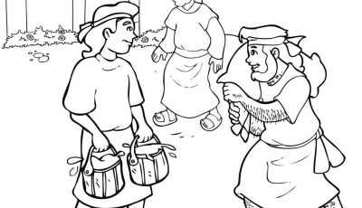 Jacob and Esau Coloring Pages - Esau and Jacob Coloring Pages