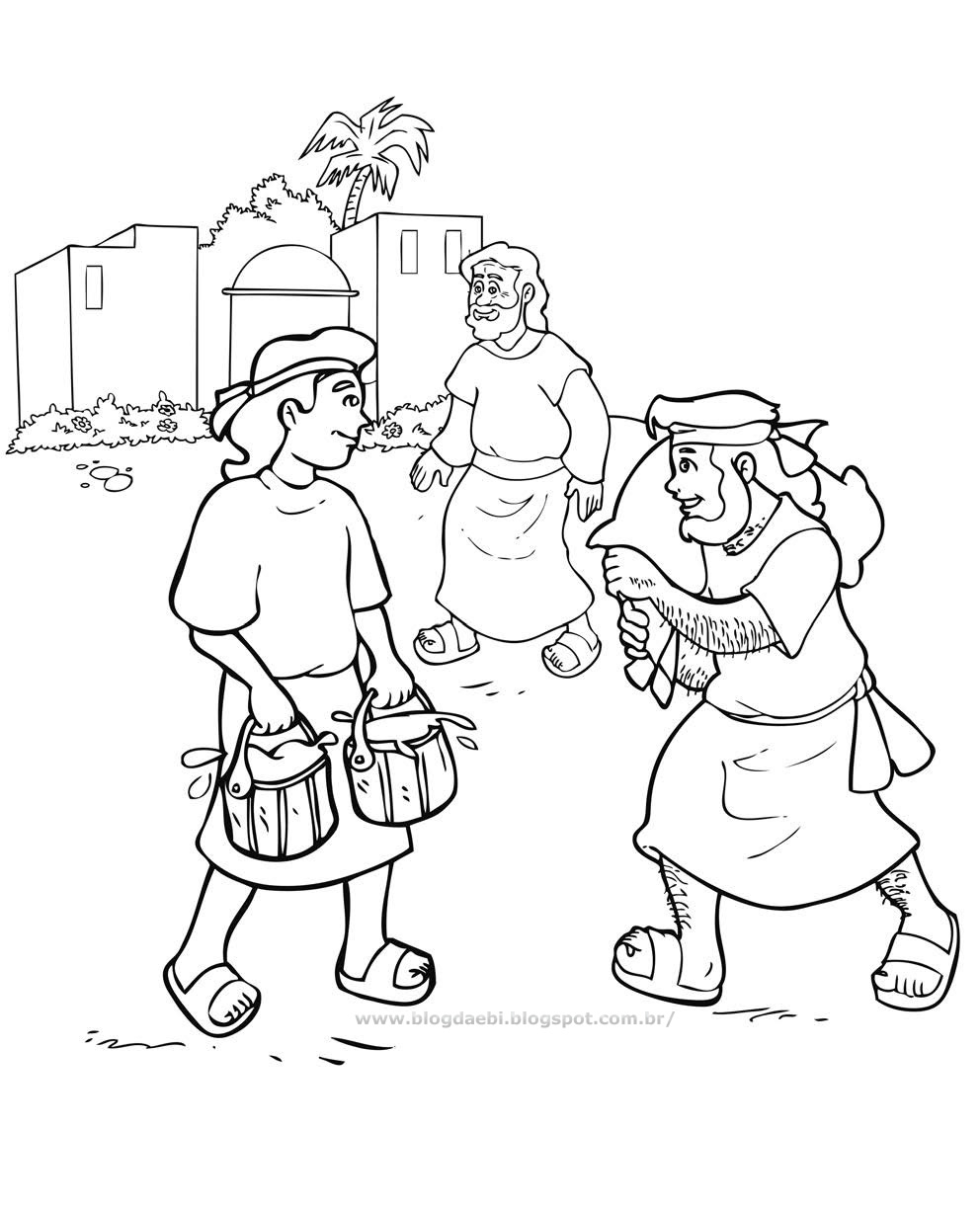 Jacob and Esau Coloring Pages  to Print 2a - Free Download