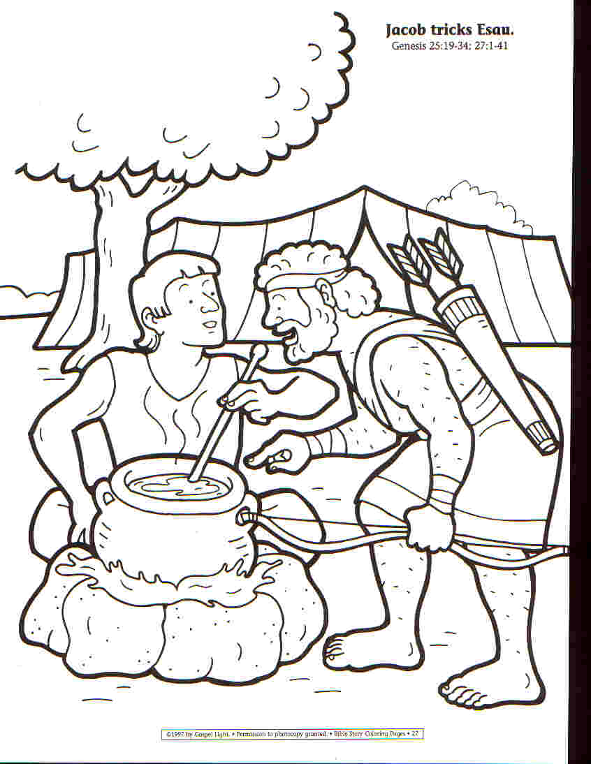 esaus birthright coloring pages - photo#18