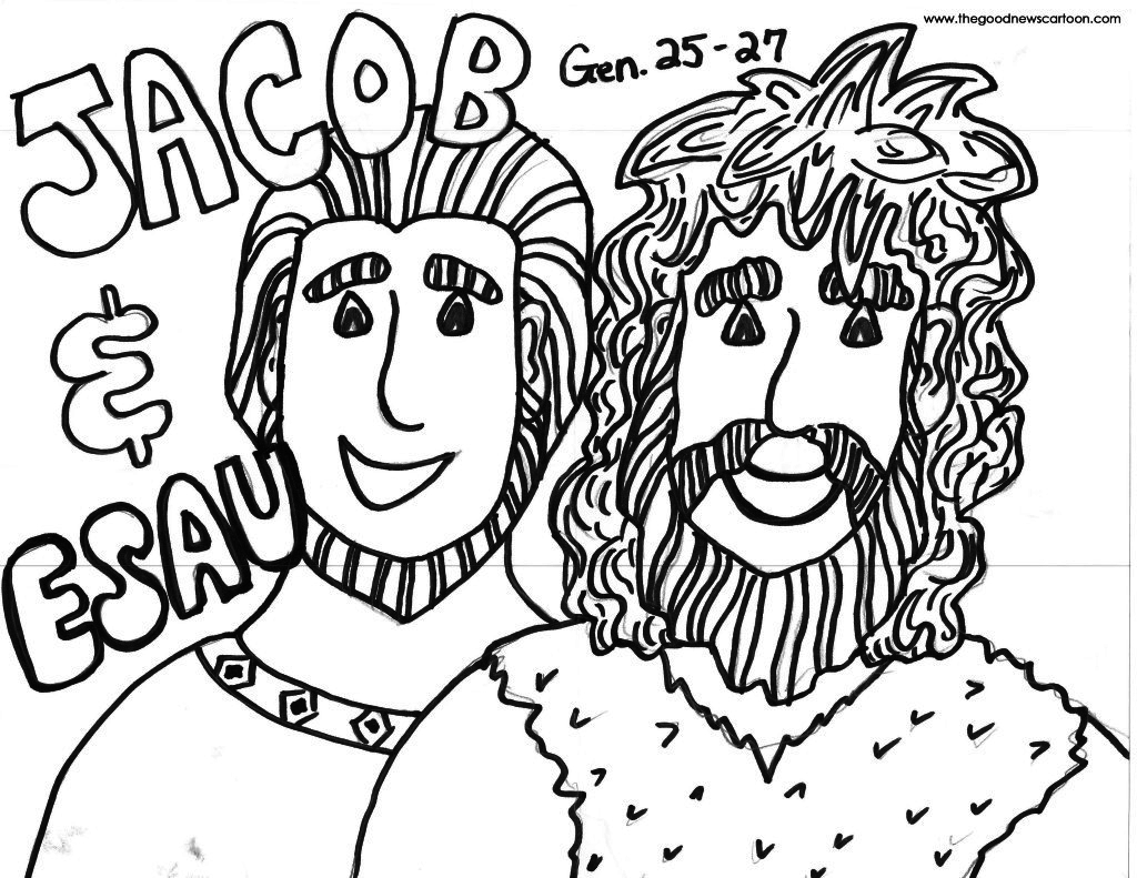 Jacob and Esau Coloring Pages  to Print 18n - Free For kids