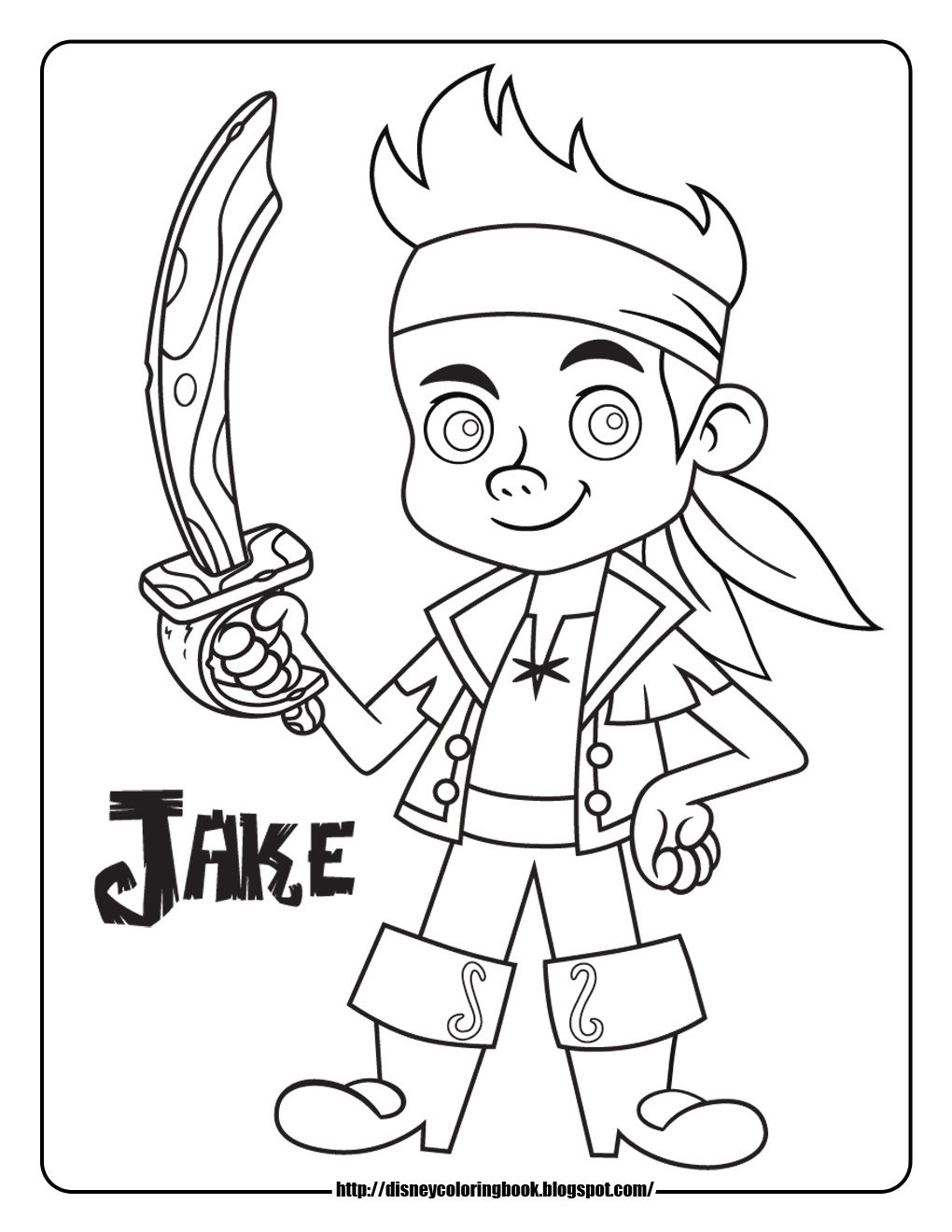 Jake and the Neverland Pirates Coloring Pages  to Print 10g - Save it to your computer