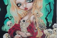 Jasmine Becket Griffith Coloring Book Pages - A Creepy Pale Princess From Jasmine Becket Griffiths Coloring Book