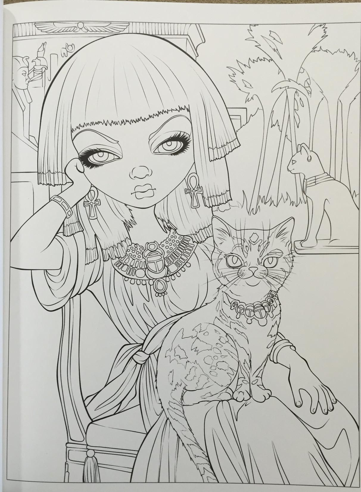 Jasmine Becket Griffith Coloring Book Pages  to Print 8o - Free For kids
