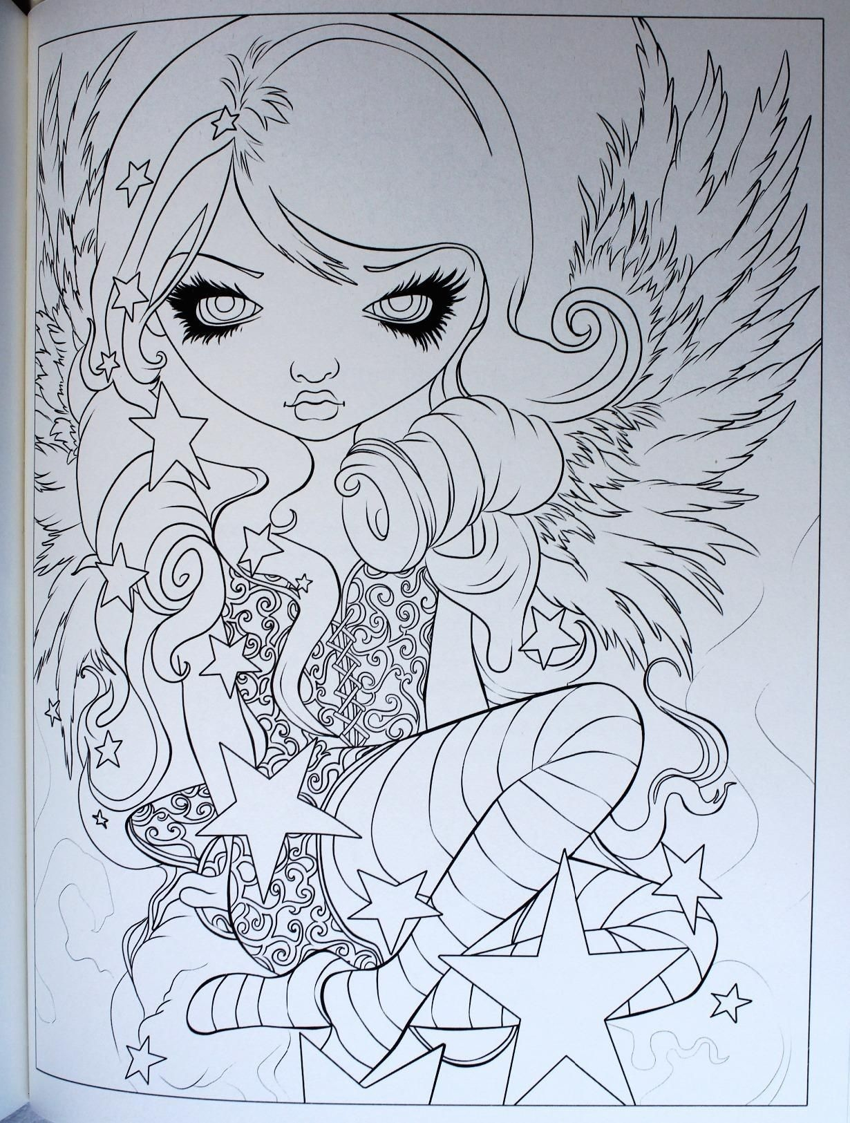 Jasmine Becket Griffith Coloring Book Pages  to Print 17i - Free For Children