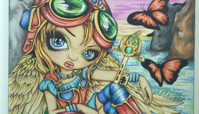 Jasmine Becket Griffith Coloring Book Pages - Jasmine Becket Griffith Colored by Marielle Nilsson