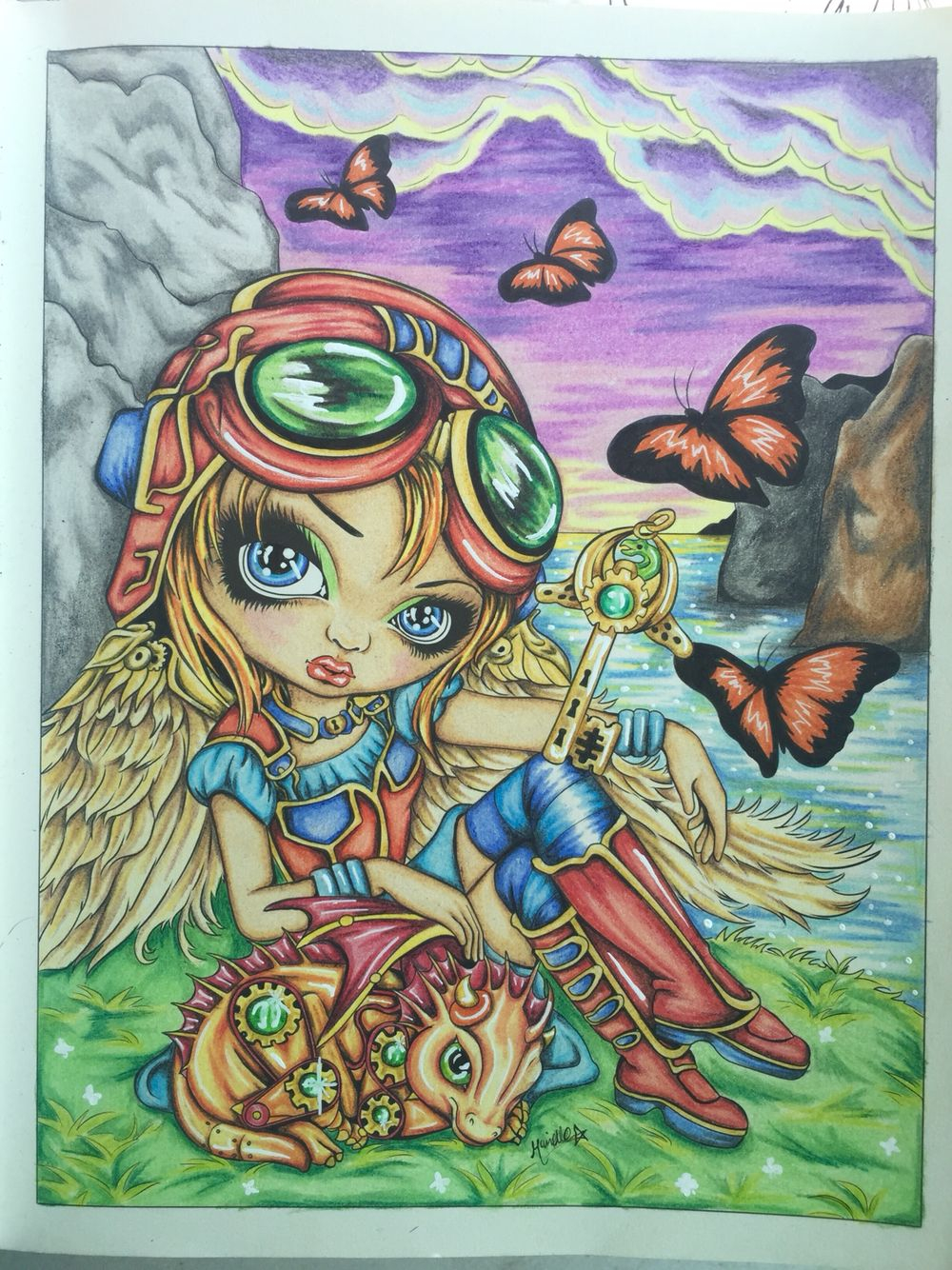 Jasmine Becket Griffith Coloring Book Pages  to Print 13c - Free Download