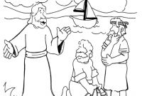 Jesus Calling His Disciples Coloring Pages - Coloring Pages Jesus Calls Peter