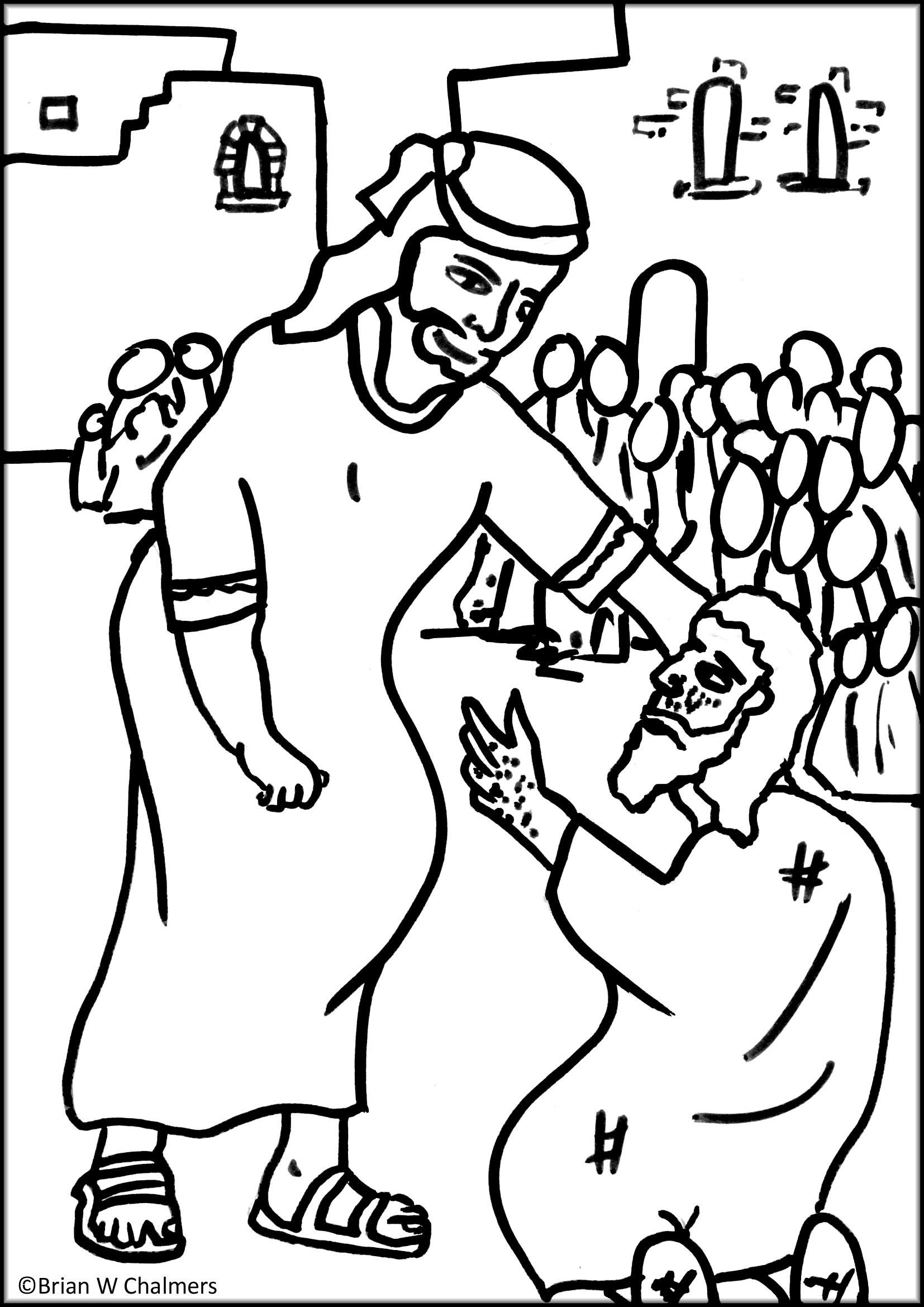 Jesus Heals Coloring Pages  Download 15t - Free Download