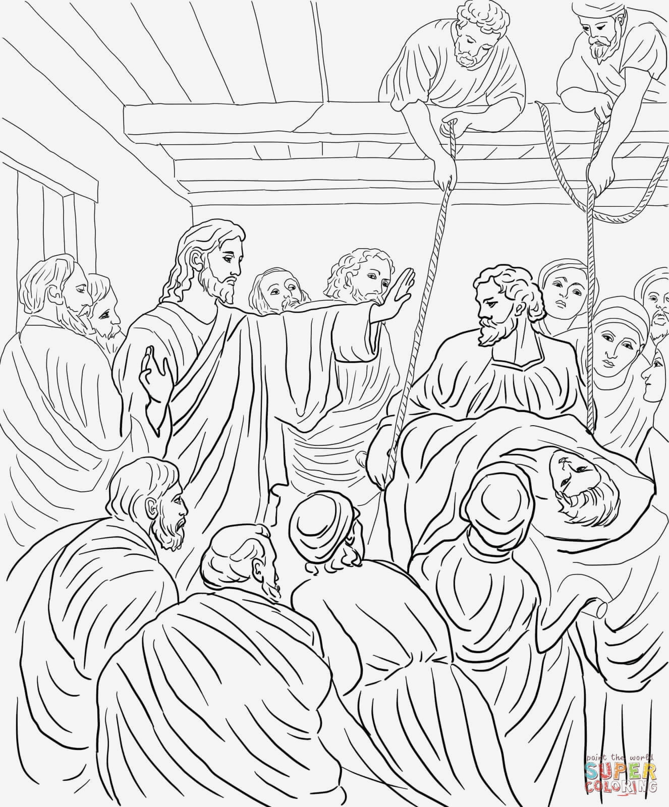 Jesus Heals Coloring Pages  Download 4q - To print for your project