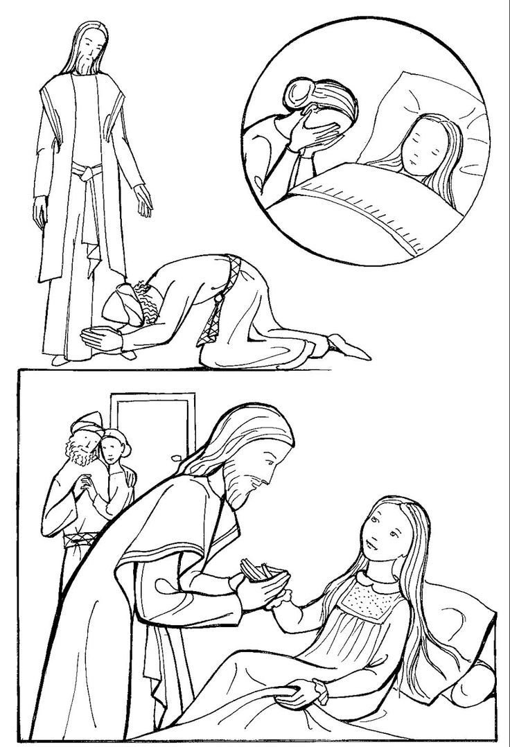 Jesus Heals Jairus Daughter Coloring Pages  Printable 17c - Free For Children