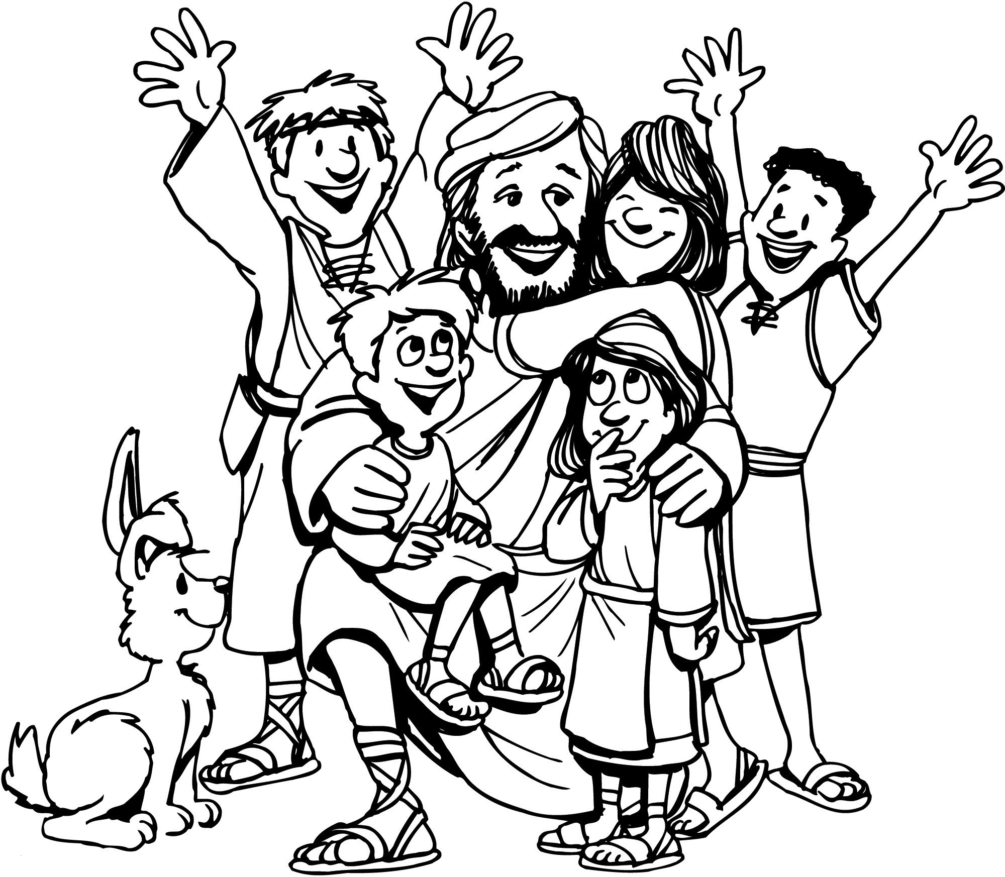Jesus Loves Children Coloring Pages  Download 13o - Free Download
