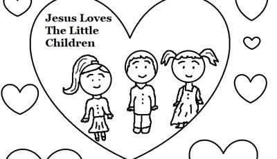 Jesus Loves the Little Children Coloring Pages - Jesus Loves Children Coloring Pages