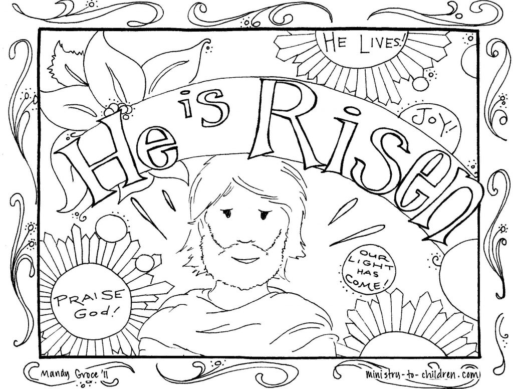 Jesus Resurrection Coloring Pages  to Print 9l - To print for your project