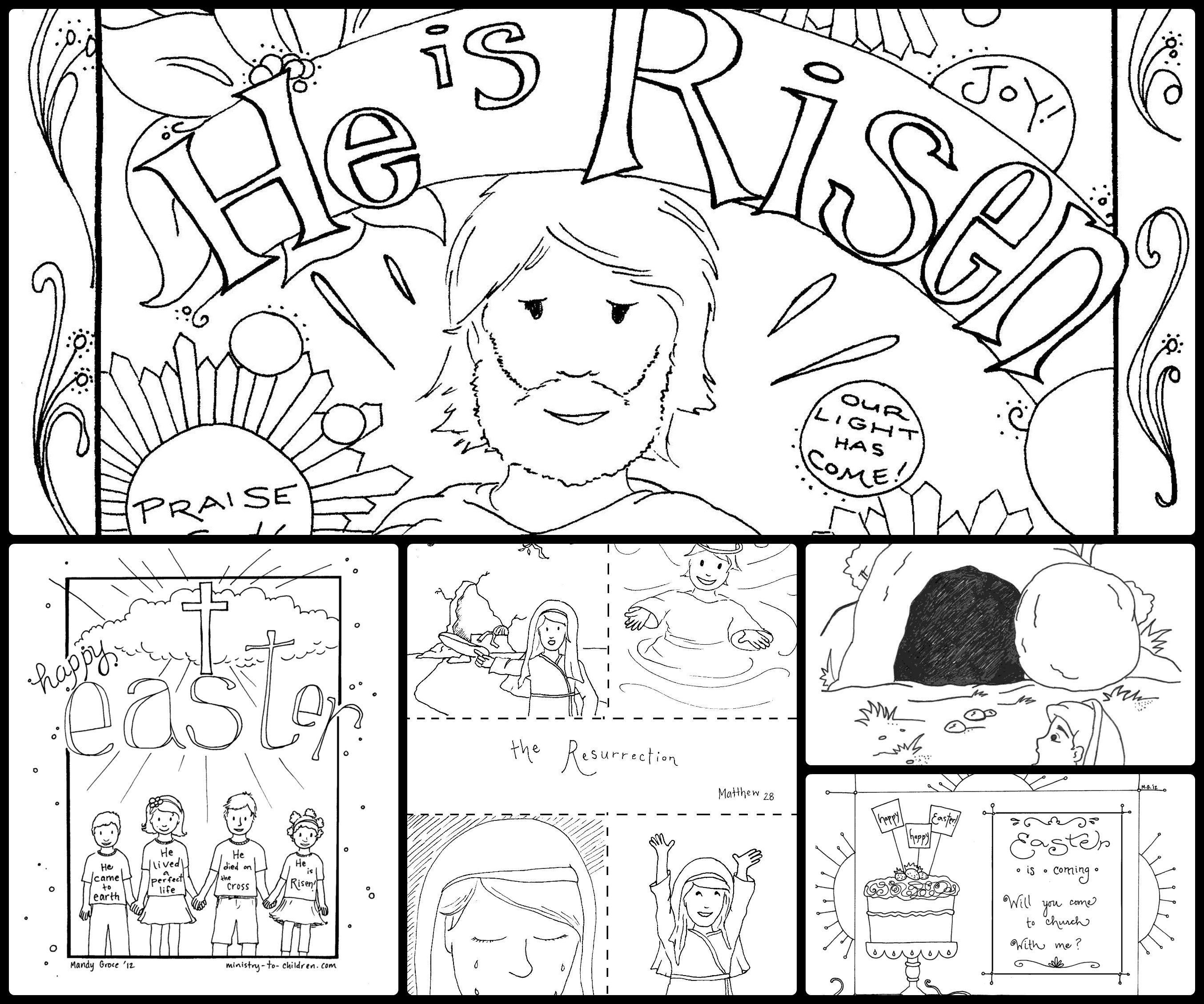 Jesus Resurrection Coloring Pages To Print Free Coloring Sheets - Jesus-is-risen-coloring-page