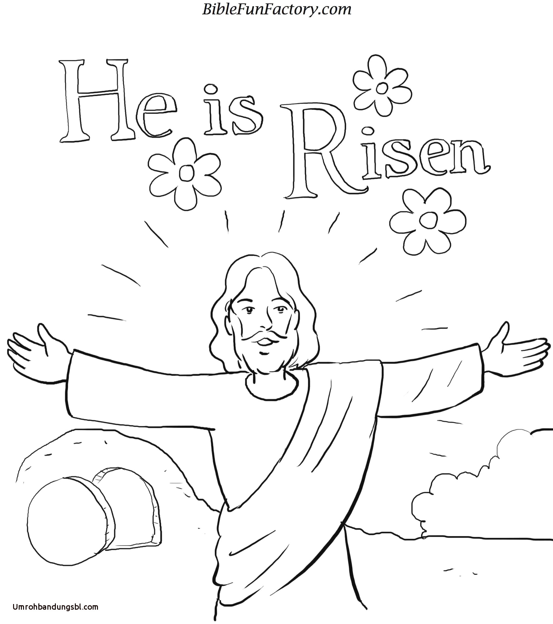 Jesus Resurrection Coloring Pages  to Print 5f - Save it to your computer