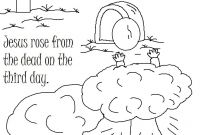 Jesus Resurrection Coloring Pages - Resurrection Coloring Pages