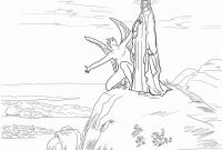 Jesus Temptation Coloring Pages - Temptation Jesus Coloring Page Mikalhameed