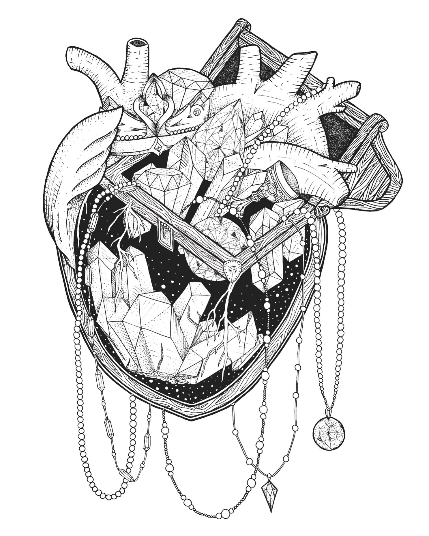 Jewelry Coloring Pages  Gallery 9b - To print for your project
