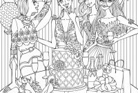 Jewelry Coloring Pages - Shopping Line for Christmas 2018 Christmas Coloring Pages Line