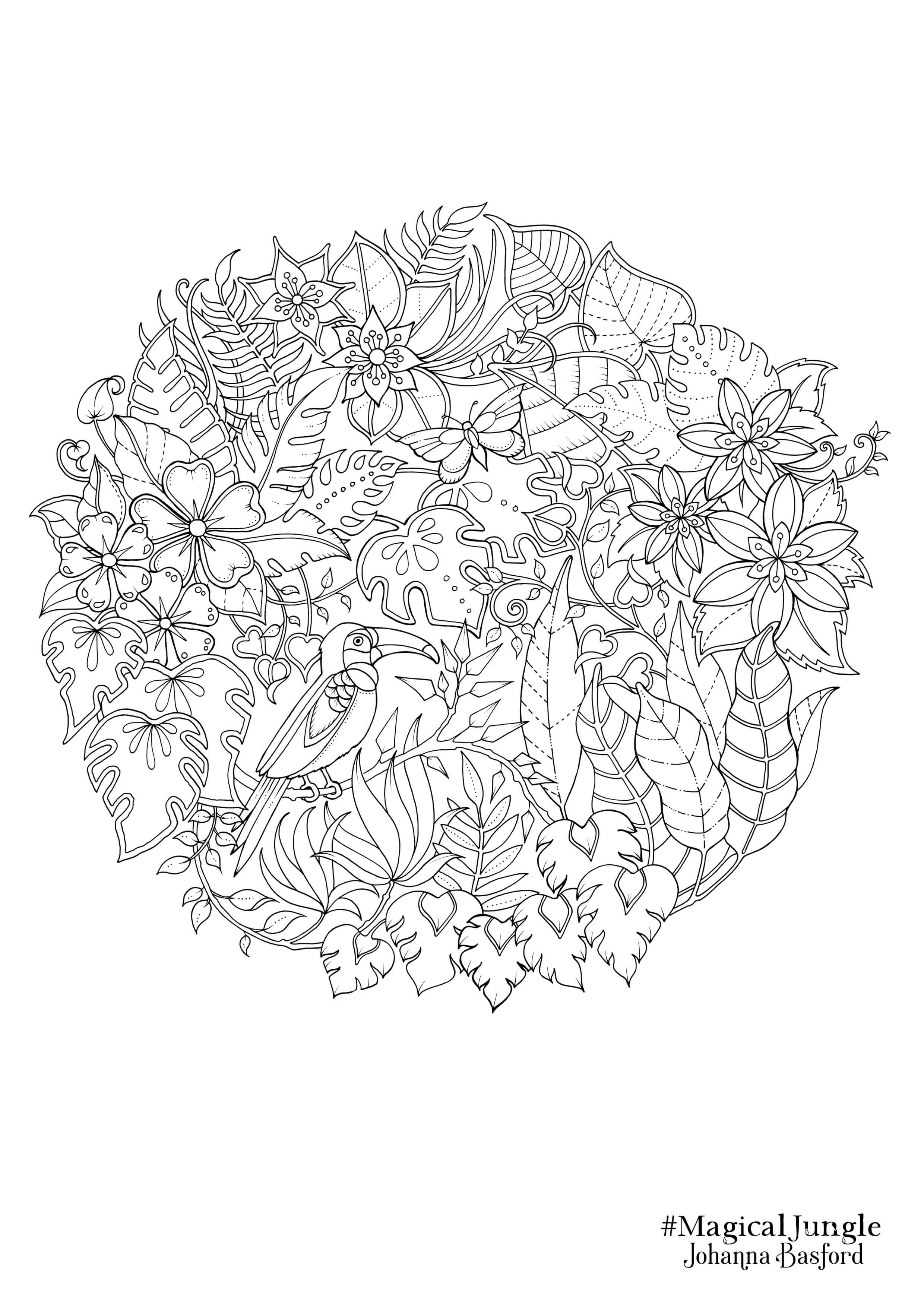Johanna Basford Coloring Pages  Collection 4o - Free For kids
