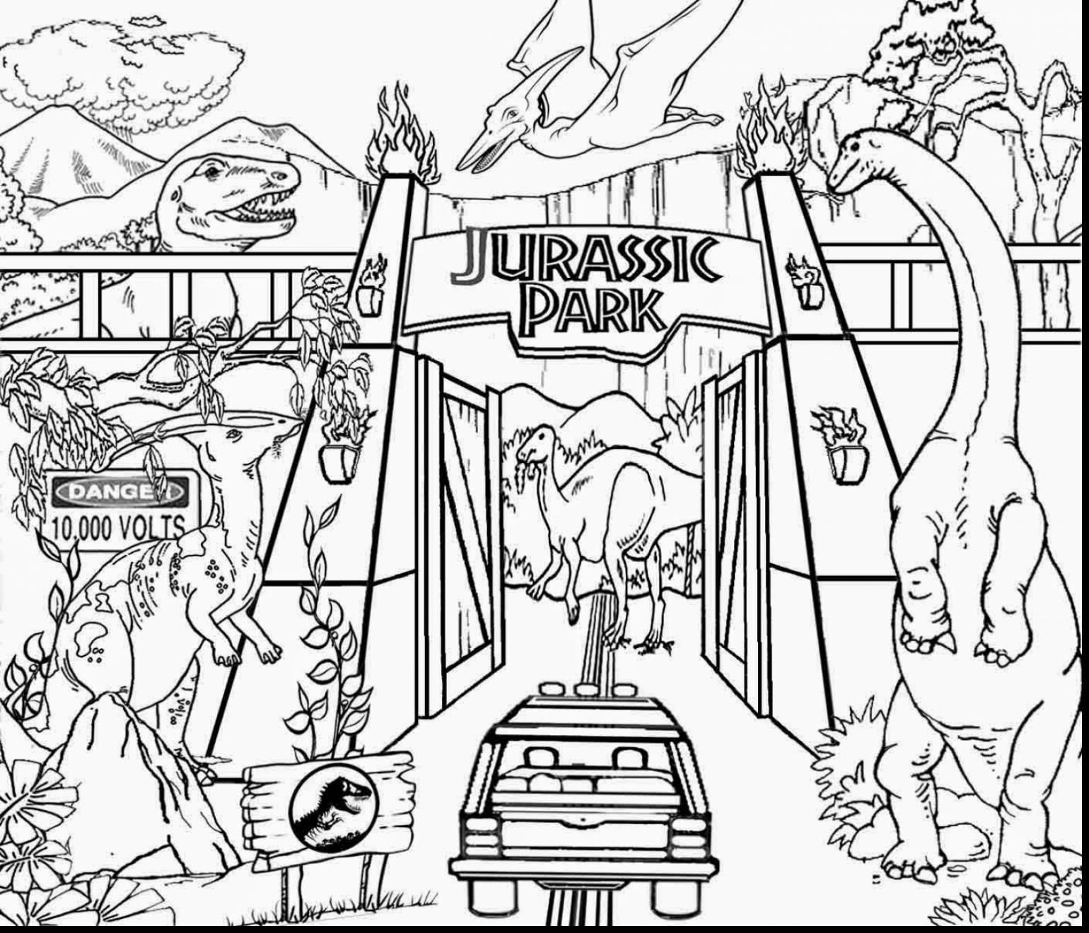 Jurassic Park Coloring Pages  Download 4j - Free For Children