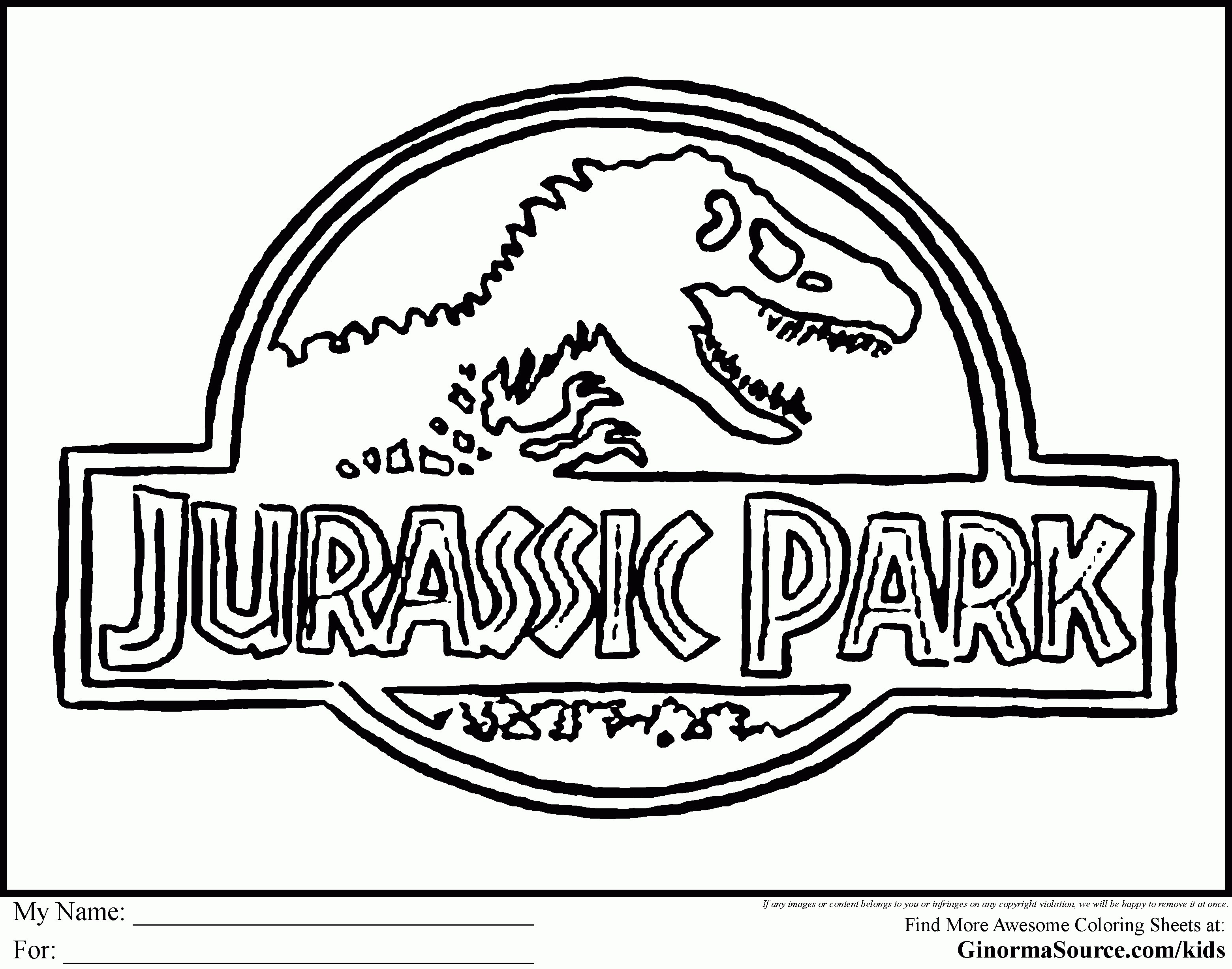Jurassic World Coloring Pages  to Print 8d - Free Download