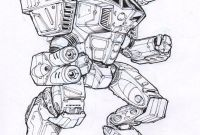Lbx Coloring Pages - Legacy Mech Sketch by Mecha Zone
