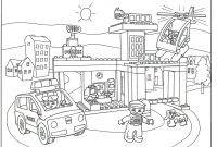 Lego City Coloring Pages - Inspirational Lego City Police Station Coloring Pages