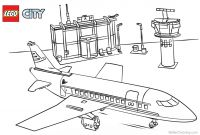 Lego City Coloring Pages - Lego City Airplane Coloring Pages Lego City Airplane Coloring Pages