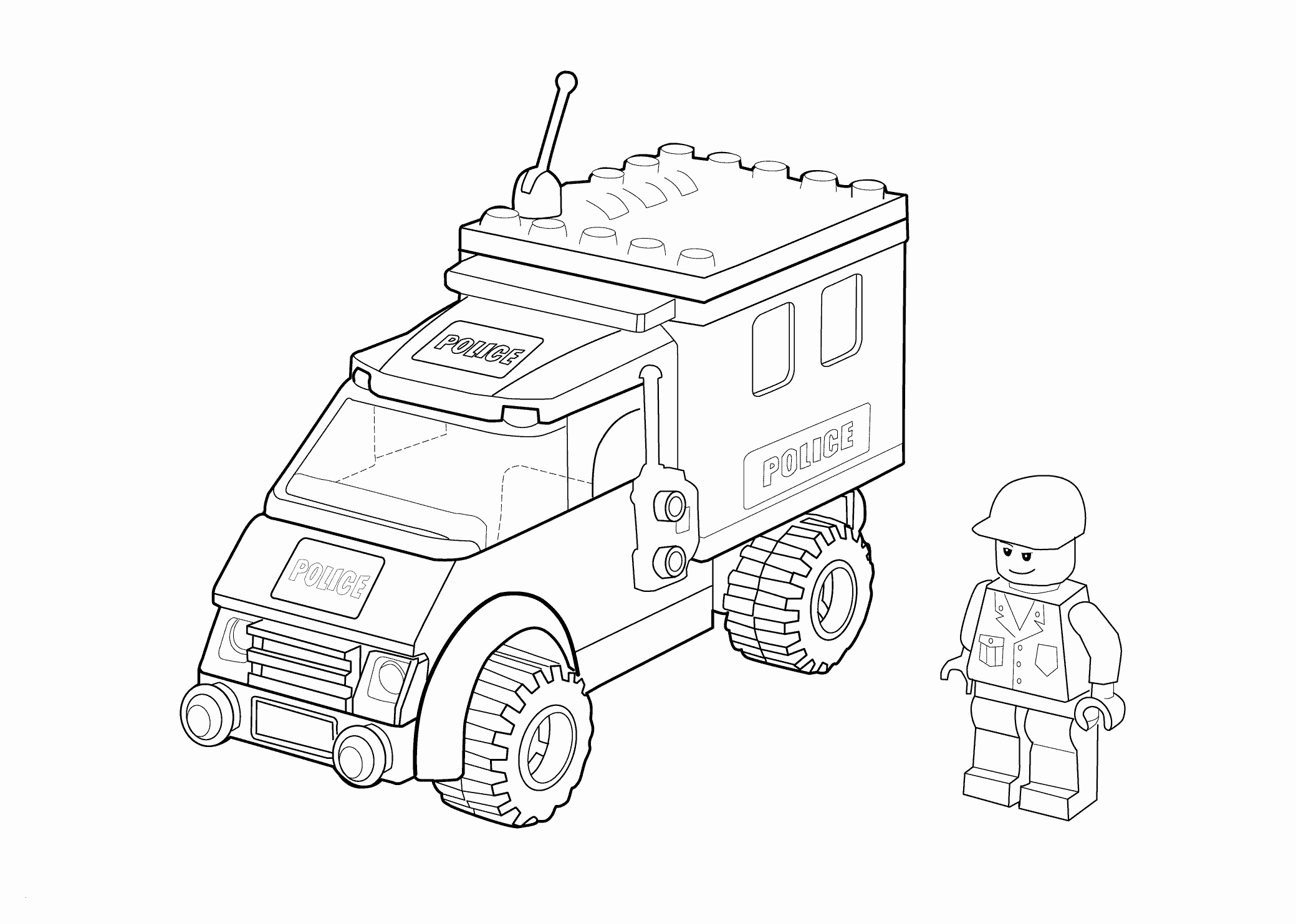Lego City Coloring Pages  to Print 5j - Free For Children