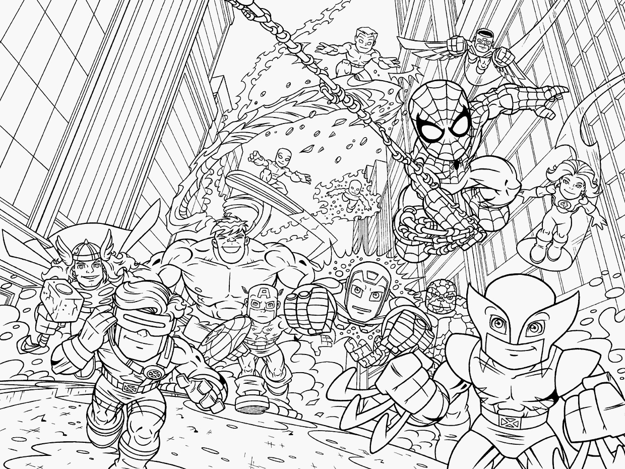 Lego Marvel Coloring Pages  Download 19b - Save it to your computer