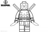 Lego Marvel Coloring Pages - Drawing Lego Deadpool Coloring Pages Online