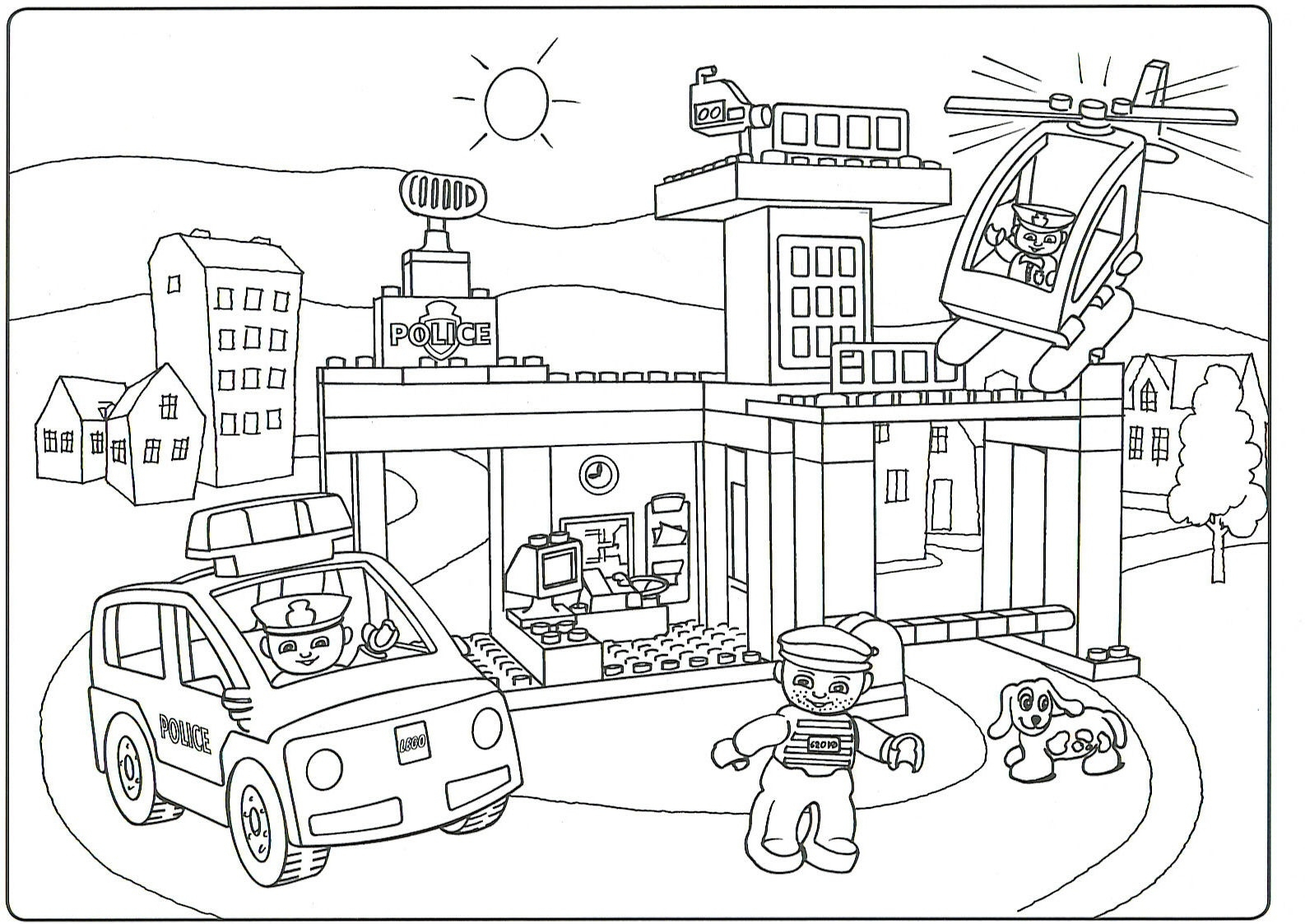 Lego Police Coloring Pages  Download 6c - Free For Children