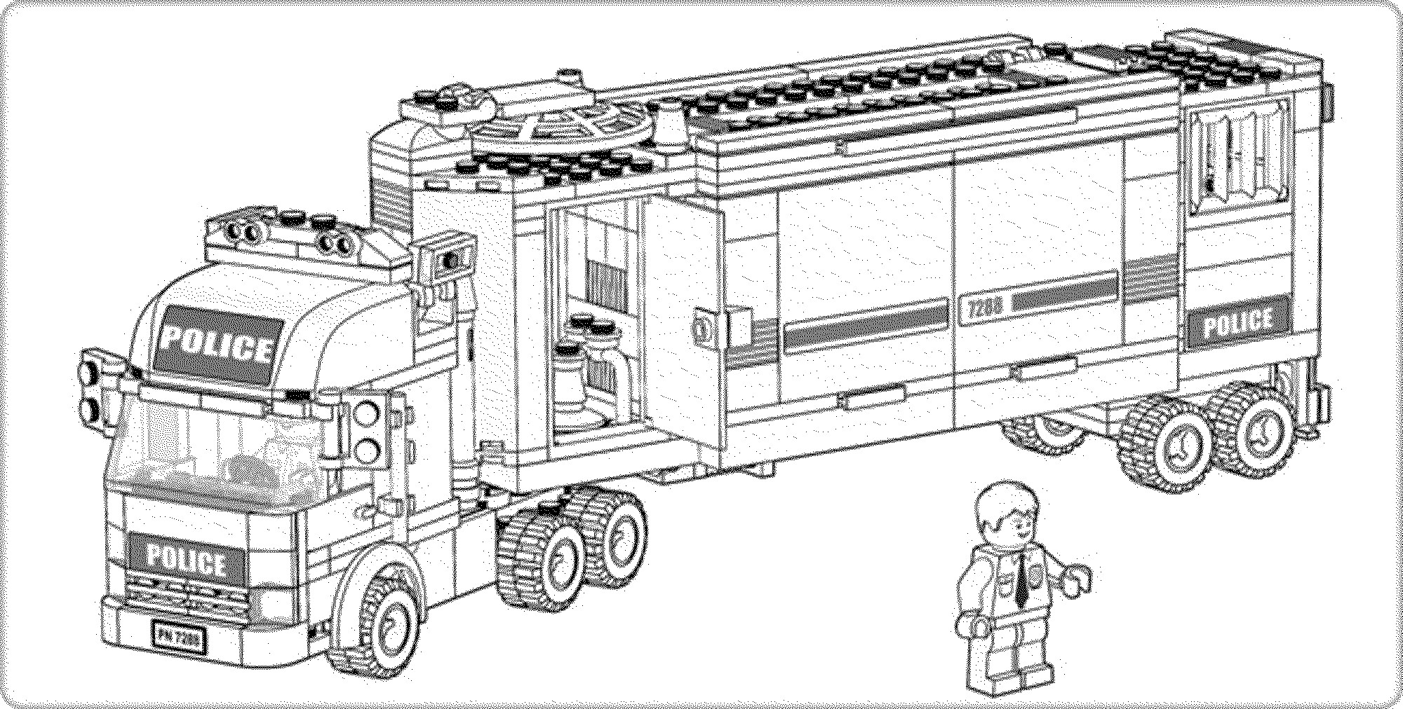 Lego Police Coloring Pages  Download 5r - Free For Children