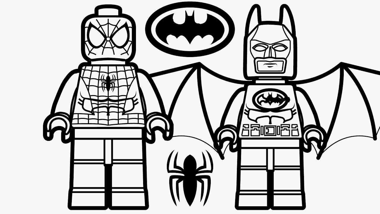 Lego Spiderman Coloring Pages  to Print 4i - Free For Children