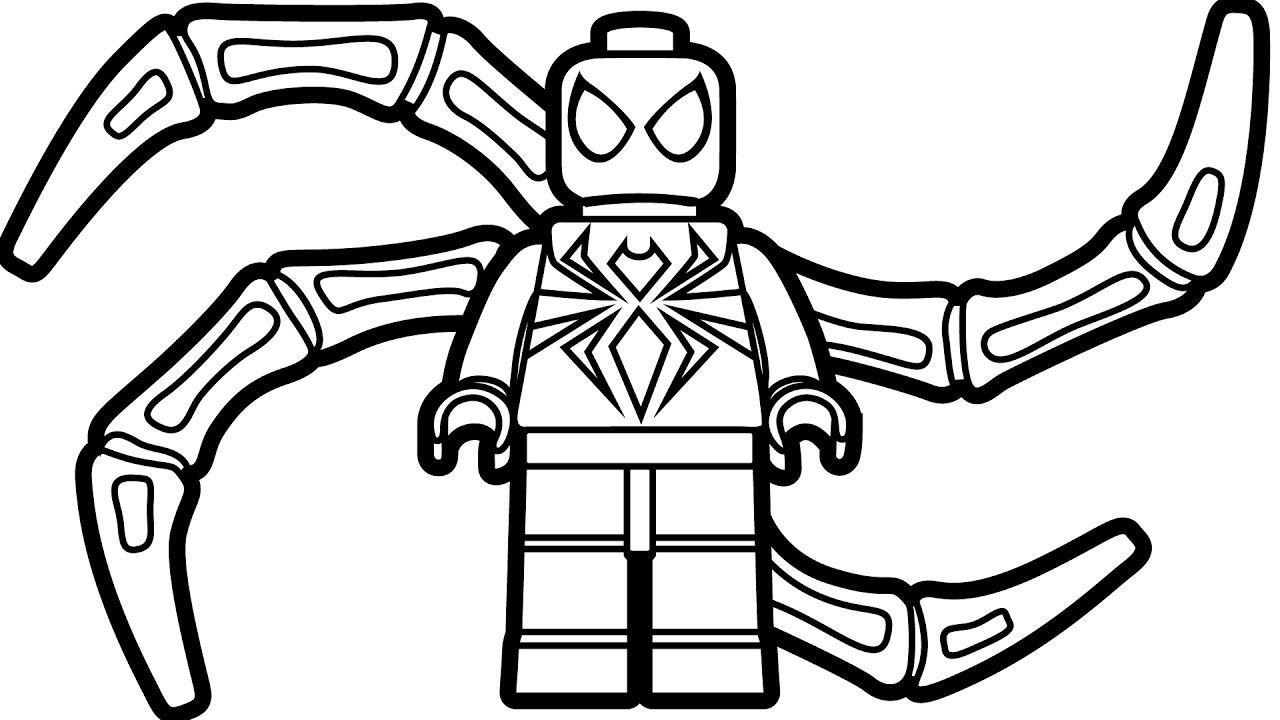 Lego Spiderman Coloring Pages  to Print 2r - Save it to your computer