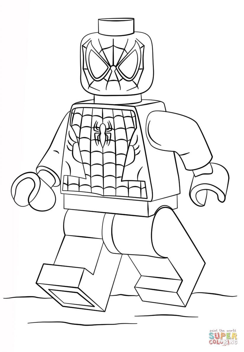 Lego Spiderman Coloring Pages  to Print 11c - To print for your project