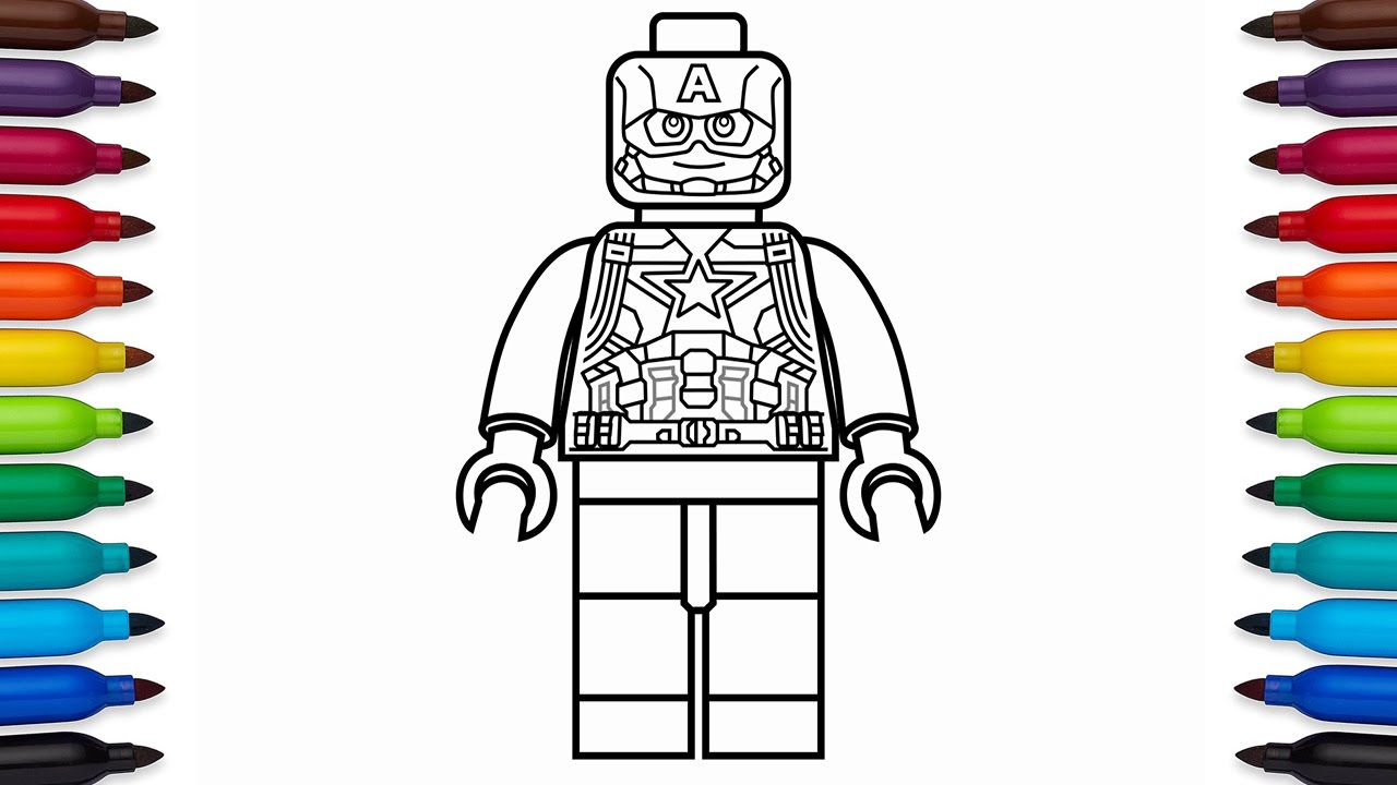 Lego Superhero Coloring Pages to Print | Free Coloring Sheets