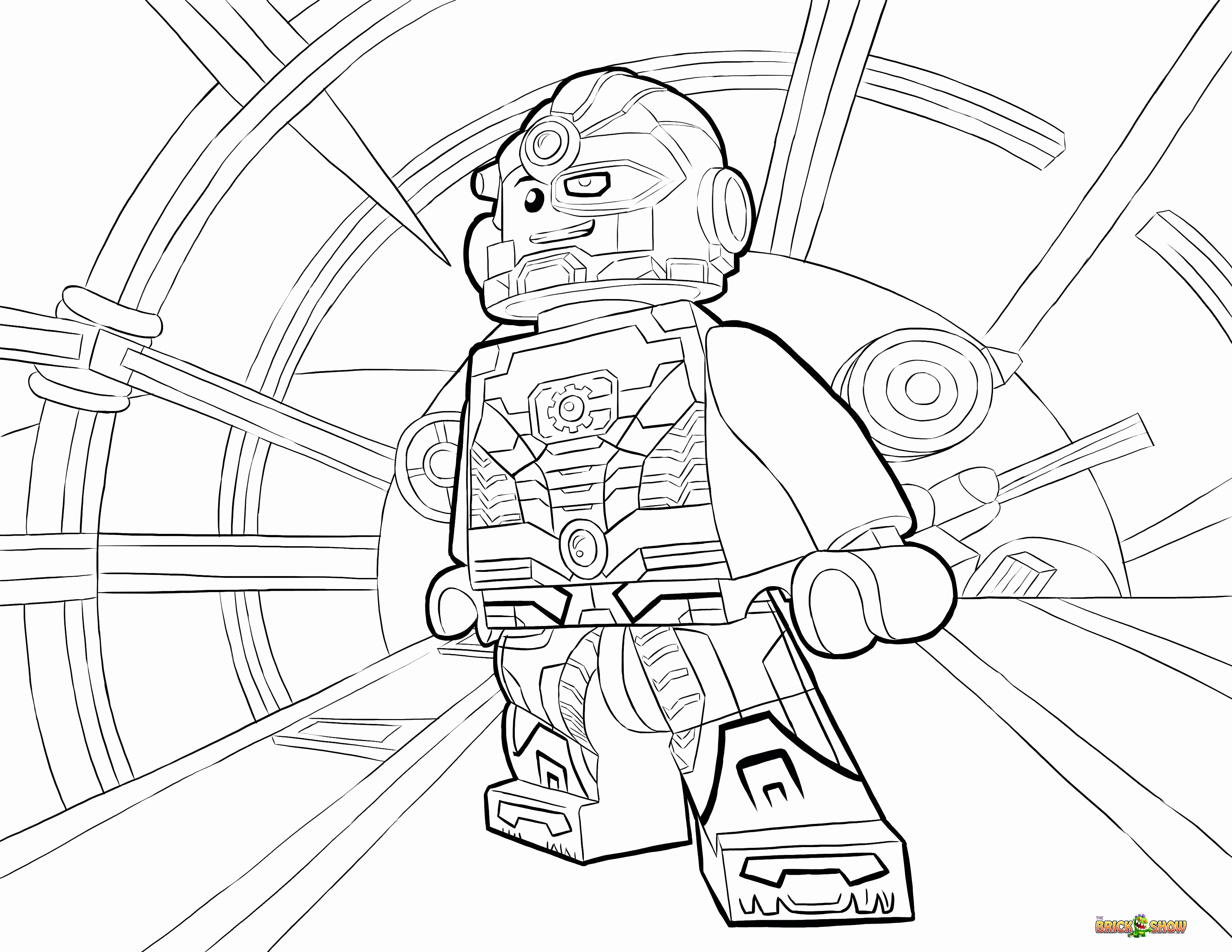 Lego Superhero Coloring Pages  to Print 5a - Save it to your computer