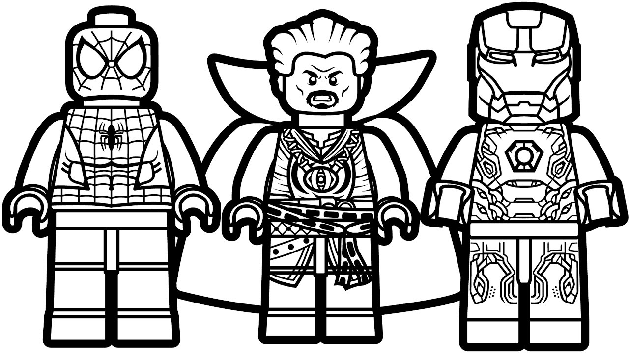 Lego Superheroes Coloring Pages Collection | Free Coloring ...