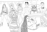 Lemonade Stand Coloring Pages - Illustrator Beautifully Recreates Iconic Scenes From Beyoncé S