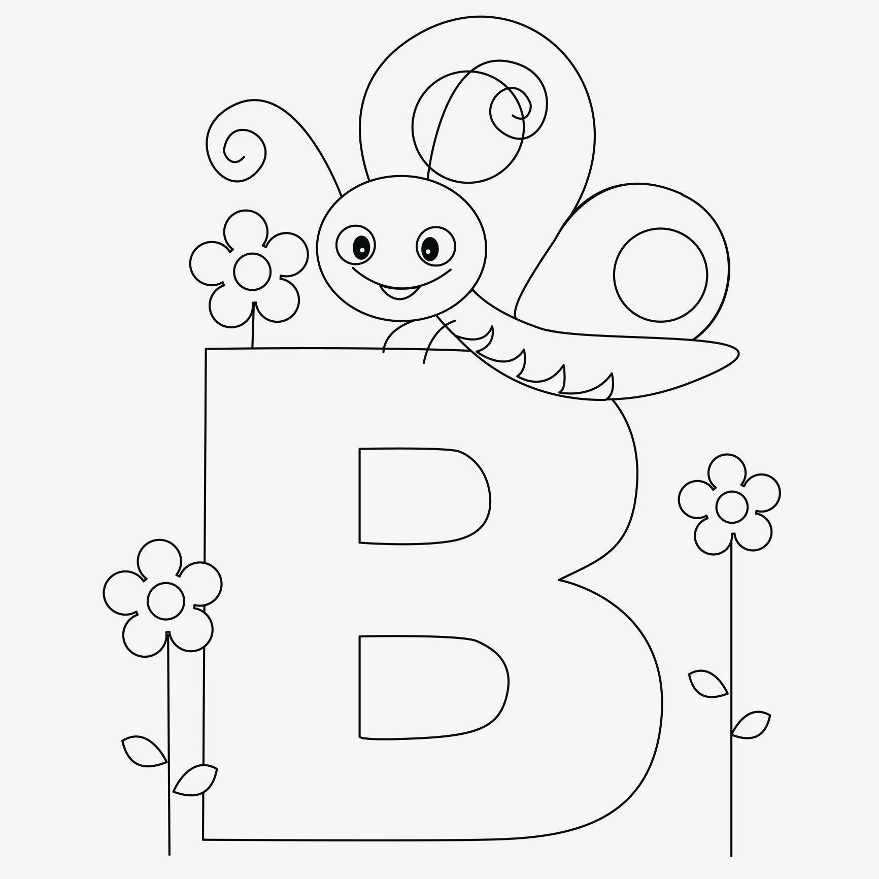 Letter B Coloring Pages  Printable 7k - To print for your project