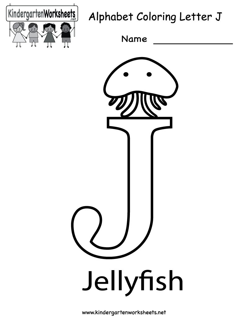 Letter J Coloring Pages for Preschool  Download 20t - Free Download