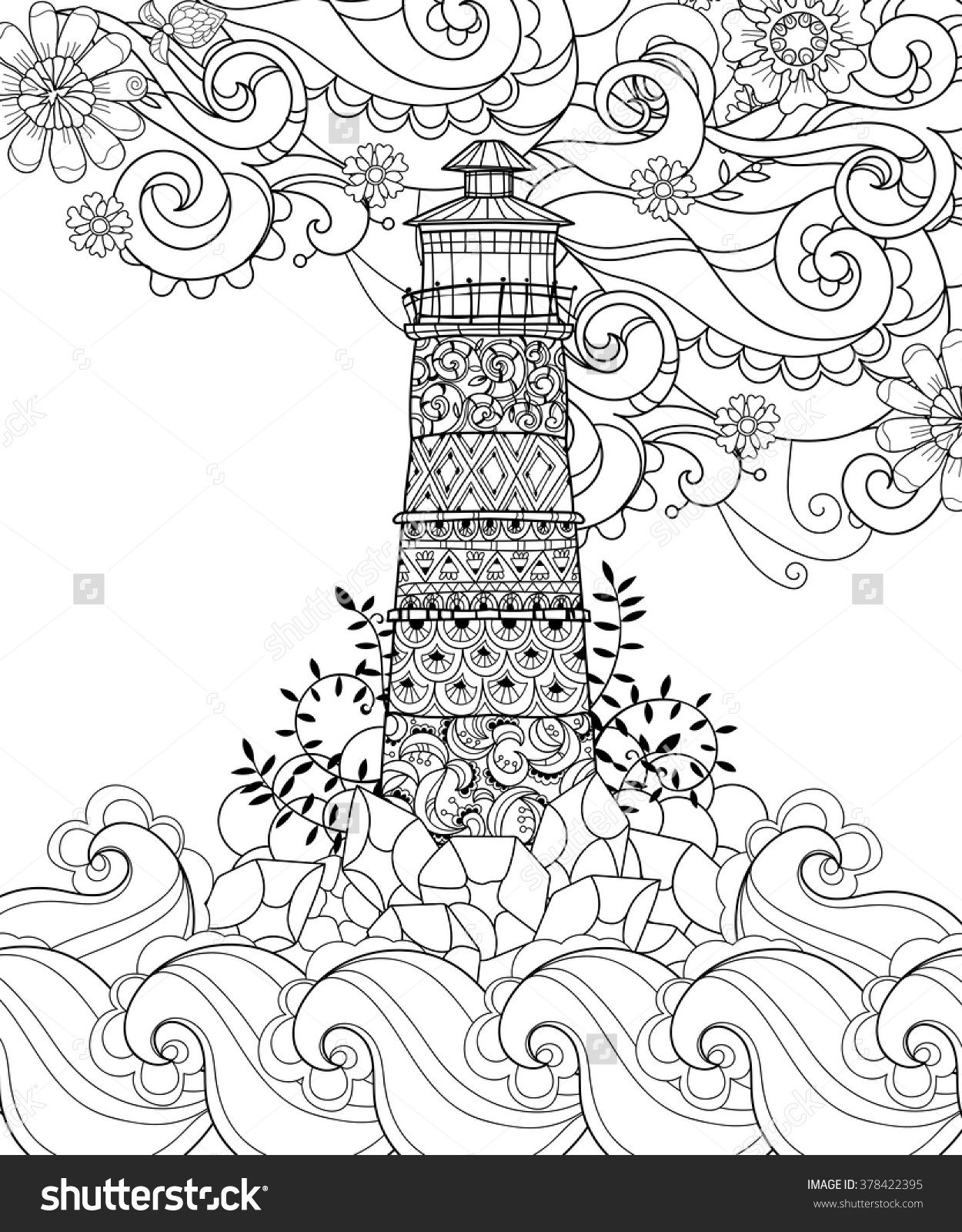 Lighthouse Coloring Pages  Gallery 8f - Free Download